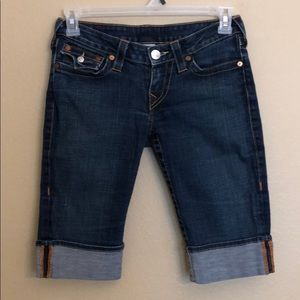 True Religion Sophie Bermuda Jean Shorts 28